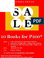 Scholastic Book Sale