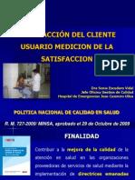 SATISFACCIÓN DEL CLIENTE USUARIO MEDICION DE LA SATISFACCIÓN