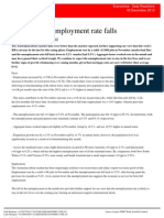 121206 Australian Unemployment Rate Falls - RBA May Now Be on Hold