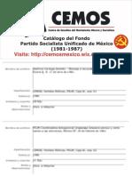 Catálogo del Fondo Partido Socialista Unificado de México (1981-1987)