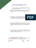 Practice Exam Chapter 1-5 Part1