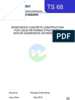 Reinforced Concrete Construction for Liquid Retaining Structures and or Aggressive Environments