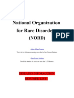 Medecine (English) NORD Complete) Diseases List of Rare Disorders