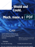 Can, Would and Could