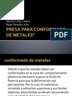 Maquinas Prensa Para Conformado de Metales