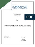 Report on GDP Kadir
