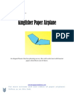 How to Fold the Best Flying Kingfisher Paper Airplane
