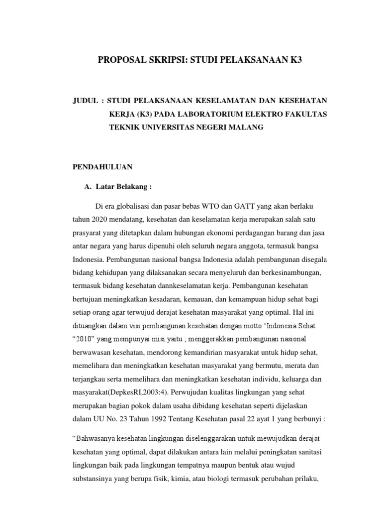 Proposal Skripsi K3