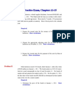 Practice Exam Chapter 13-15