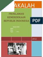 Makalah Proklamasi Kemerdekaan Republik Indonesia