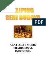 Kliping Seni Budaya - Alat-Alat Musik Tradisional Indonesia