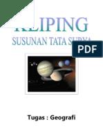 Kliping Geografi - Susunan Tata Surya