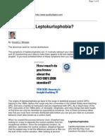 Do You Have Leptokurtophobia - Wheeler