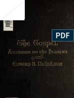 The Gospel According to the Hebrews - Nicholson (1879)