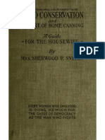 A Treatise on Food Conservation and the Art of Canning 1917