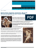 MORE VEGETARIAN CENTENARIANS! - Beatrice Wood - 105 Years Old - Inspired the #1 Movie TITANIC ! - No Paleo Diet Atkins Caveman Meat or Lowcarb Long Lifespan Eaters - Nir Barzilai