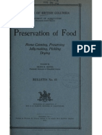 Preservation of Food, Home Canning, Preserving, Jelly-making, Pickling, Drying 1910
