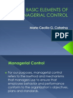 Basic Elements of Managerial Control