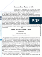 English Style in Scientific Papers