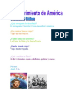 Descubrimiento de América. 2º Grado.