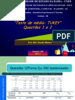 7ª.2- Aula-Teste de Tukey-Questão da Prova-escribd