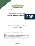 Tese de mestrado - Acompanhamento e Fiscalização de Obras de Arquitectura Paisagistica