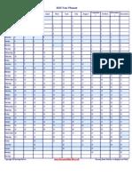 2013 Vertical Year Planner