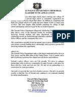 Newark Police Memorial Scholarship Fund Application