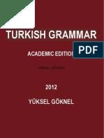 TURKISH GRAMMAR UPDATED ACADEMIC EDITION YÜKSEL GÖKNEL OCTOBER 2012-signed