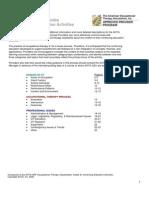 2009-AOTA Classification Codes