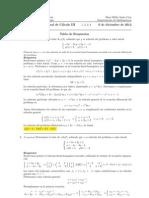 Examen Final Cálculo III, 6 de diciembre 2012