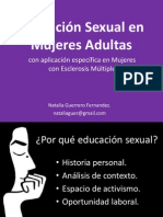 Educación Sexual en Mujeres Adultas- Natalia Guerrero Fernandez