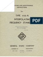 General Radio Company Model GR-1110-A Interpolating Frequency Standard ~ Operating and Maintenance Instructions, 07-1953.