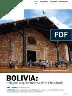 Bolivia, milagros arquitectónicos de la Chiquitanía