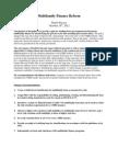 Multifamily Finance Reform