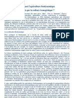 [Agriculture][Bio] Pourquoi l'agriculture biodynamique plutôt que la culture transgénique - R. Steiner - 27p