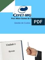 CEFET - Gestão de Custos 2012