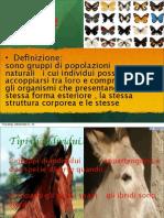 (s6ita - bi2ita) Presentazione - Emanuele GIFFRA - Le Specie