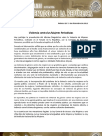 06-12-12 Violencia de Mujeres Periodistas