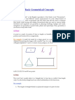 Basic Geometrical Concepts
