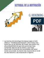 Teoría bifactorial de la motivación Herzberg