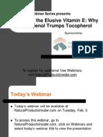 Decoding the Elusive Vitamin E