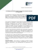 Lanzamiento Del Informe de DDHH 2012 - 10 de Diciembre - Plaza de Los Desaparecidos 19hs