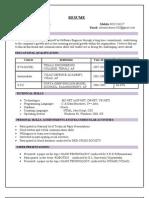 Resume Nareshkumar Btech Cse Dotnet