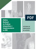 113-Politica Nacional de Praticas Integrativas e Complementares SUS