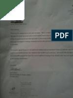 Letter from Abbott Northwestern Hospital