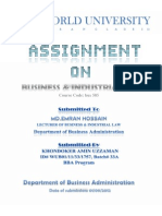 Assignment for Business Law