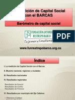 Resultados Capital Social en el Eje Cafetero comparado con lo nacional en el 2011