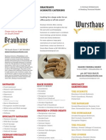 Wursthaus Hot Food Menu