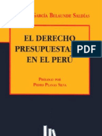 Derecho Presupuestario Domingo Garcia Belaunde Peruano